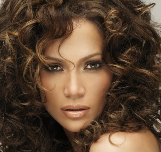 Jennifer Lopez With Curly Hair - Obrázkek zdarma pro iPad Air