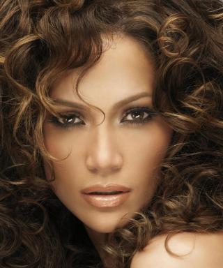 Jennifer Lopez With Curly Hair - Obrázkek zdarma pro Nokia Lumia 1520
