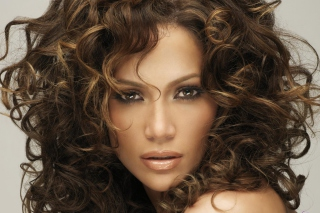 Jennifer Lopez With Curly Hair - Obrázkek zdarma