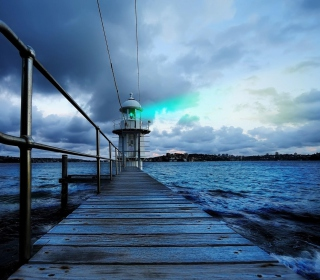 Lighthouse in Denmark - Obrázkek zdarma pro 208x208