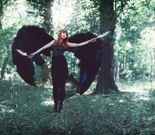 Black Angel - Obrázkek zdarma pro 128x128