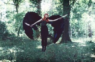 Black Angel - Obrázkek zdarma pro 720x320