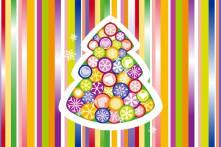 Free Colorful Christmas Tree Picture for Android, iPhone and iPad