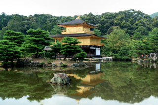 House On River In Japan Picture for Android, iPhone and iPad