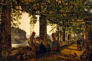 Sylvester Shchedrin, Terrace of the Seashore - Fondos de pantalla gratis para Blackberry RIM Curve 9360