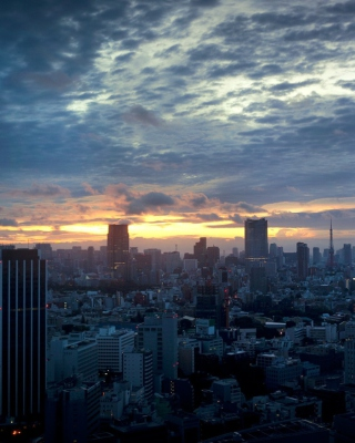 Tokyo Sky - Obrázkek zdarma pro Nokia C-5 5MP