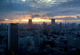 Tokyo Sky - Obrázkek zdarma pro Samsung Galaxy S II 4G