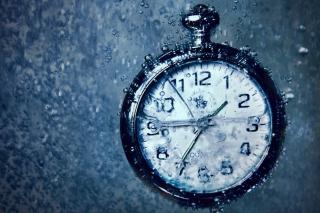Frozen Time Clock - Obrázkek zdarma pro Nokia XL