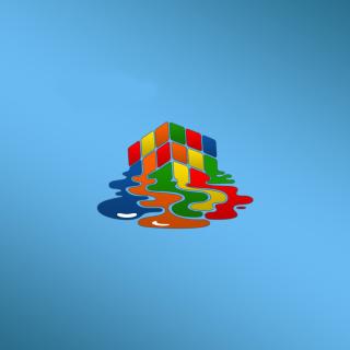 Rubiks cube puzzle - Obrázkek zdarma pro iPad Air
