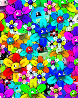 Bright flowers smiles - Obrázkek zdarma pro Nokia Asha 202