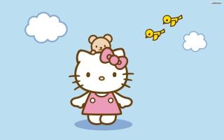 Hello Kitty & Friend - Obrázkek zdarma pro 1024x600