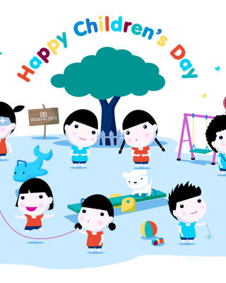 Happy Childrens Day on Playground - Obrázkek zdarma pro iPhone 5C
