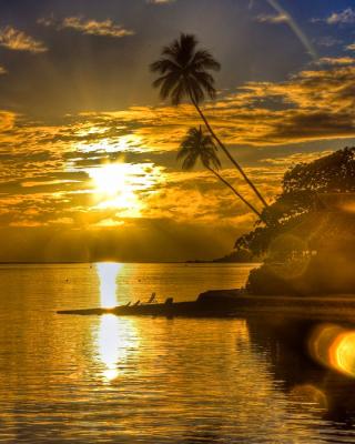 Sunset in Angola - Obrázkek zdarma pro Nokia X3