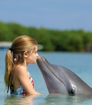Dolphin's Kiss - Obrázkek zdarma pro Nokia Asha 300