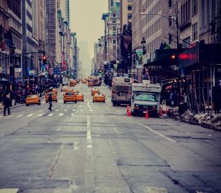 New York City Usa Street Taxi - Obrázkek zdarma pro 320x320