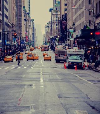 New York City Usa Street Taxi - Obrázkek zdarma pro Nokia Asha 310