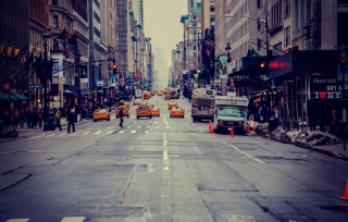 New York City Usa Street Taxi Background for Android, iPhone and iPad