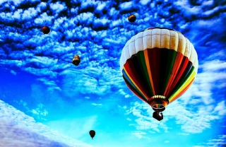 Balloons In Sky Wallpaper for Android, iPhone and iPad