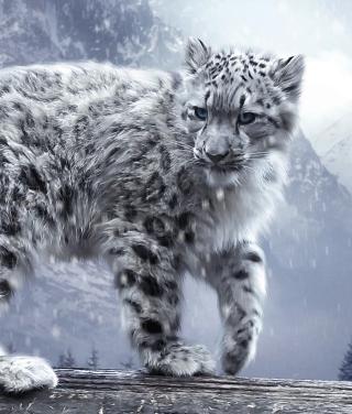 White Leopard - Obrázkek zdarma pro Nokia Asha 308