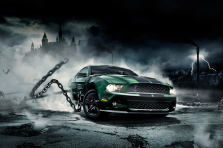 Mustang Monster Background for Android, iPhone and iPad
