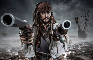 Jack Sparrow - Obrázkek zdarma pro Samsung I9080 Galaxy Grand