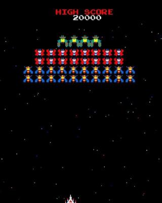 Galaxian Galaga Nintendo Arcade Game - Obrázkek zdarma pro 132x176
