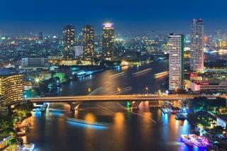 Bangkok and Chao Phraya River - Fondos de pantalla gratis para Widescreen Desktop PC 1920x1080 Full HD