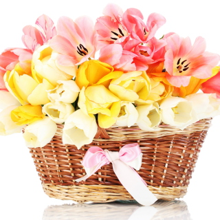 Tulips Basket - Obrázkek zdarma pro iPad Air