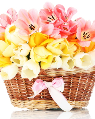 Tulips Basket - Obrázkek zdarma pro iPhone 6