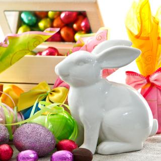 Porcelain Easter hares - Obrázkek zdarma pro iPad