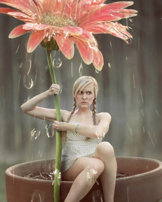 Flower Girl - Obrázkek zdarma pro Nokia Asha 305
