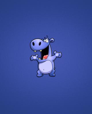 Happy Hippopotamus - Obrázkek zdarma pro 480x800