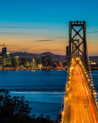 San Francisco, Oakland Bay Bridge - Obrázkek zdarma pro 320x480