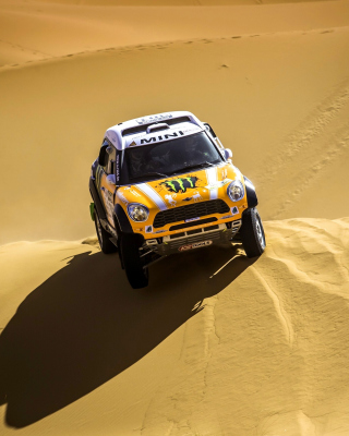 Mini Cooper Countryman Dakar Rally - Obrázkek zdarma pro iPhone 4S