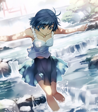 Girl With Blue Hair - Obrázkek zdarma pro 480x854