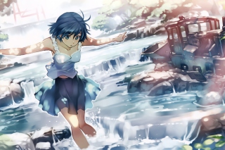 Girl With Blue Hair Wallpaper for Android, iPhone and iPad