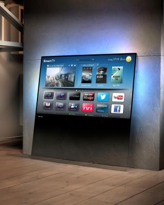 Smart TV with Internet - Obrázkek zdarma pro Nokia Asha 303