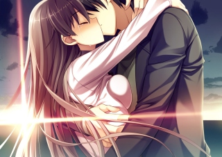 Anime Kiss Background for Android, iPhone and iPad