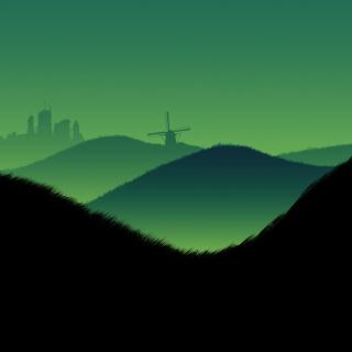Green Hills Illustration - Obrázkek zdarma pro iPad Air