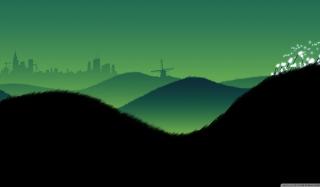 Green Hills Illustration - Obrázkek zdarma pro 1680x1050