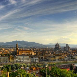 Florence Panoramic View - Obrázkek zdarma pro 320x320
