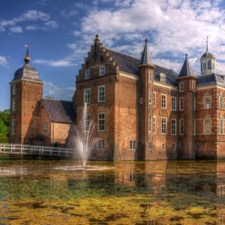 Netherlands Kasteel Ruurlo - Obrázkek zdarma pro iPad 3