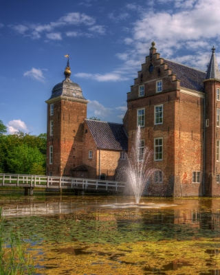 Netherlands Kasteel Ruurlo - Obrázkek zdarma pro 768x1280