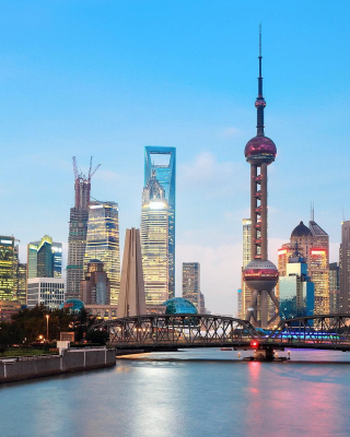 Shanghai Bund Waterfront Area - Obrázkek zdarma pro 240x400