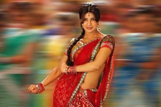 Priyanka Chopra In Saree - Fondos de pantalla gratis para Nokia Asha 201
