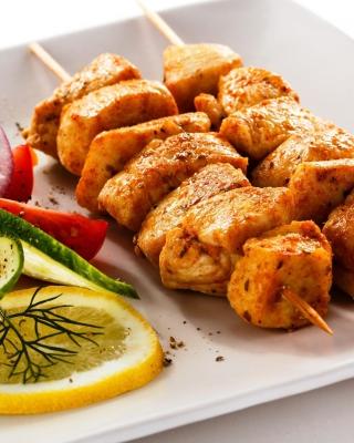 Chicken Skewers - Obrázkek zdarma pro 360x400
