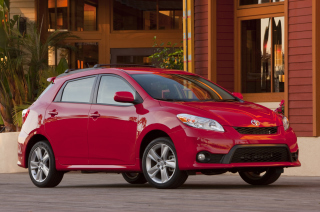 Red Toyota Matrix Background for Android, iPhone and iPad