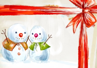 Christmas Snowmen Background for Android, iPhone and iPad