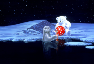 Coca-Cola Christmas Party On North Pole - Obrázkek zdarma pro Desktop 1280x720 HDTV