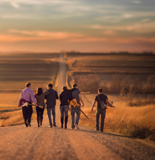 Music Band On Road - Obrázkek zdarma pro iPad 2